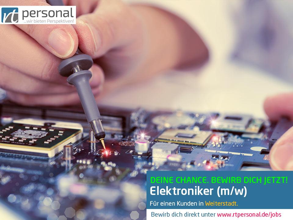 Stellenausschreibung Elektroniker Weiterstadt