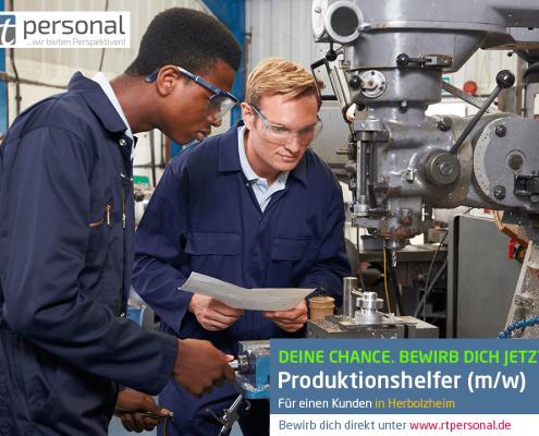 rtPersonal sucht Produktionshelfer in Herbolzheim
